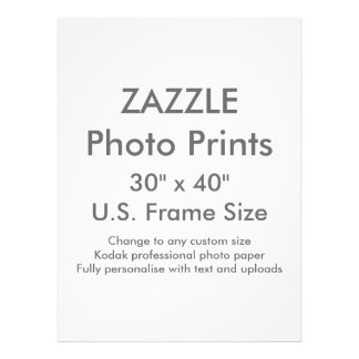 "Zazzle Gewohnheit 30"" x 40"" Foto-Druck Fotos"