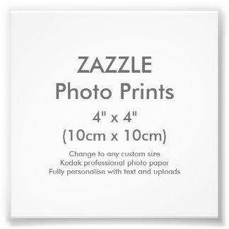 """Zazzle Gewohnheit 4"""" x 4"""" Foto-Druck-Schablone Fotodruck"""