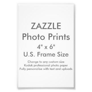 """Zazzle Gewohnheit 4"""" x 6"""" Foto-Druck Fotodruck"""