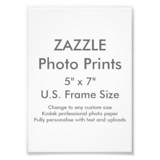 """Zazzle Gewohnheit 5"""" x 7"""" Foto-Druck Fotodruck"""