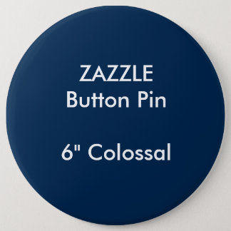 "ZAZZLE Gewohnheit 6"" kolossales rundes Runder Button 15,3 Cm"