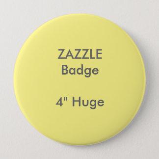 """ZAZZLE Gewohnheit druckte 4"""" enormes rundes Runder Button 10,2 Cm"""