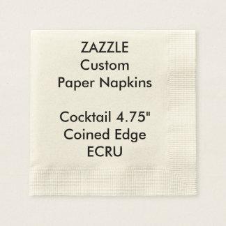 Zazzle Gewohnheits-ECRU geprägte Papierserviette