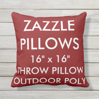 Zazzle kundenspezifische ROTE Kissen Für Draußen