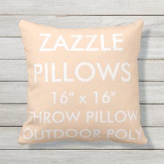 Zazzle kundenspezifischer PFIRSICH Kissen Für Draußen