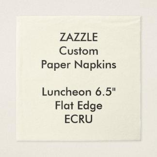Zazzle kundenspezifisches großes ECRU Papierserviette
