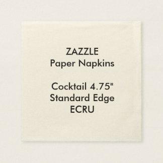 ZAZZLE kundenspezifisches kleines ECRU Papierserviette