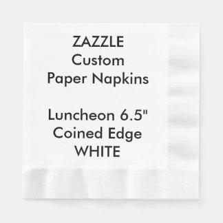 Zazzle kundenspezifisches WEISS geprägte Papierservietten