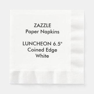 ZAZZLE kundenspezifisches Weiß geprägte Servietten