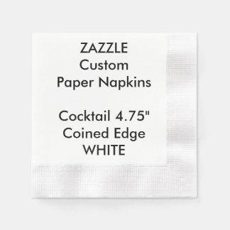 Zazzle kundenspezifisches WEISS geprägte Servietten