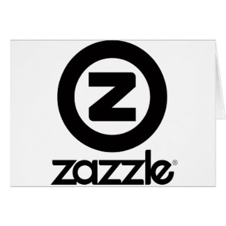 zazzle Logo gestapelt Grußkarte