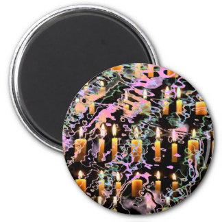 Zazzling magische Schneeflocke-Juwelen Runder Magnet 5,7 Cm