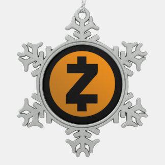 Zcash Schneeflocke-Weihnachtsbaum-Verzierung Schneeflocken Zinn-Ornament
