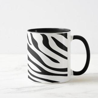 Zebbra Stripes Schwarzweiss Tasse