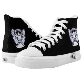 Zebra-Bewusstseins-Band-Engels-Gewohnheits-Schuhe Hoch-geschnittene Sneaker