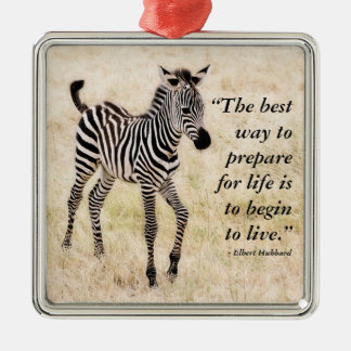 Zebra-Colt Silbernes Ornament