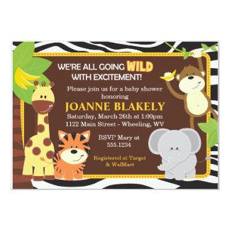 Zebra-Druck-Dschungel-Safari-Babyparty-Einladung Einladung