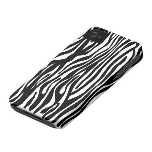 Zebra-Druck-Muster - Schwarzweiss iPhone 4 Cover