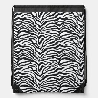 Zebra-Druck-Musterdrawstring-Rucksack Turnbeutel