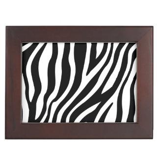 Zebra-Druck-Schwarzweiss-Streifen-Muster Erinnerungsdose