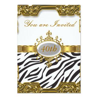 Zebra-Geburtstags-Party-Glamour-heiße Einladung 2