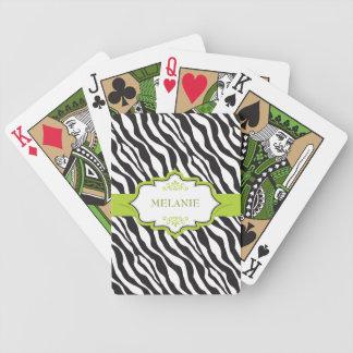 Zebra-grünes Band Bicycle Spielkarten