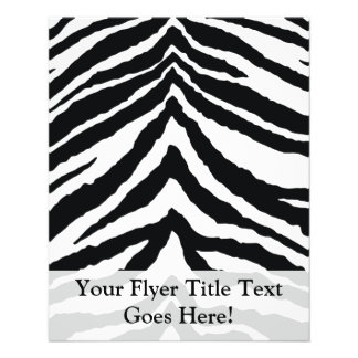 Zebra-Haut-Druck 11,4 X 14,2 Cm Flyer
