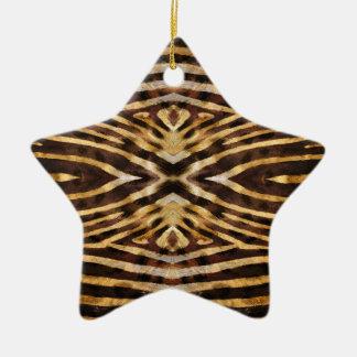 Zebra-Haut-Muster Keramik Stern-Ornament