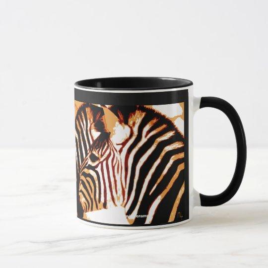 Zebra in der Liebe Tasse