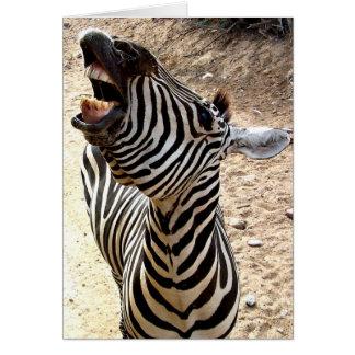 Zebra-Lächeln Notecard Mitteilungskarte