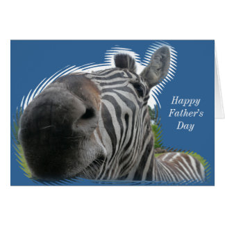 Zebra-Nahaufnahme - der glückliche Vatertag Karte