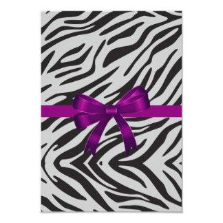 Zebra-Party Einladungs-Junggeselinnen-Abschied Karte