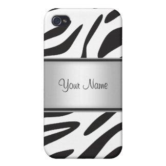 Zebra-Pelz I Etui Fürs iPhone 4