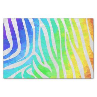 Zebra-Regenbogen und weißer Druck Seidenpapier