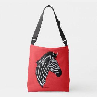 """""""Zebra"""" rote Kreuz-Körper Tasche"""