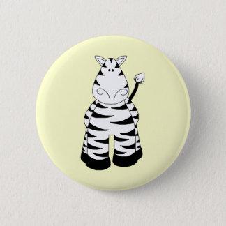 Zebra Runder Button 5,7 Cm