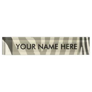 Zebra-Streifen-dekoratives Muster Schreibtischplakette
