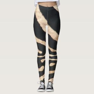 Zebra-Streifen-Gamaschen Leggings
