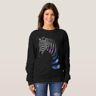 Zebra-Tier Stripes Federn, das Sweatshirt der