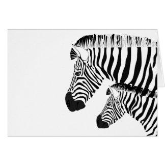 Zebra und Baby Karte