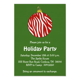 Zebra-Verzierungs-Feiertags-Party Einladung