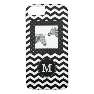 Zebras-Schwarz-weißes Zickzack und iPhone 8/7 Hülle