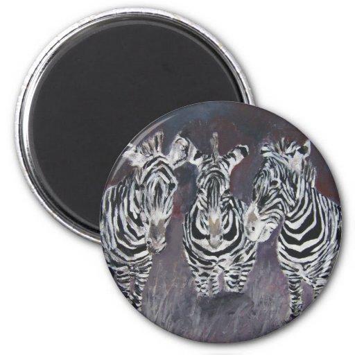 zèbre-peinture magnets pour réfrigérateur