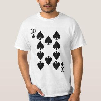 Zehn der Spaten-Spielkarte T-Shirt