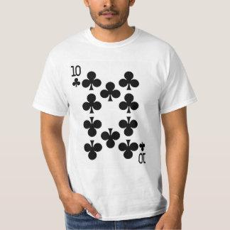 Zehn der Verein-Spielkarte T-Shirt