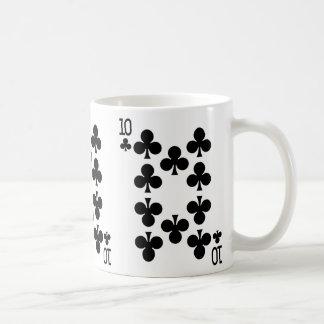Zehn der Verein-Spielkarte Tasse