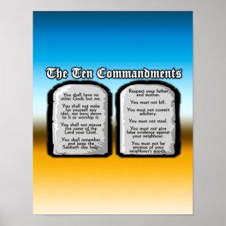 Zehn Gebote der heiligen Bibel, das Gesetz des Poster