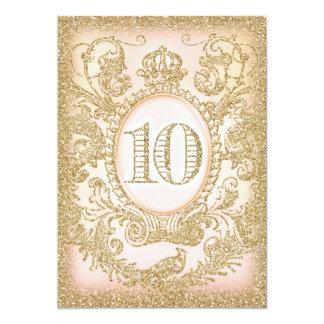 Zehnte Geburtstags-einst Prinzessin 12,7 X 17,8 Cm Einladungskarte
