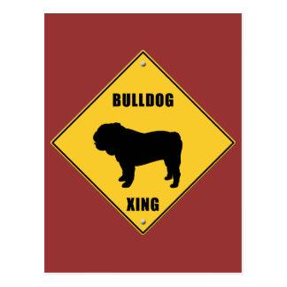 Zeichen der Bulldoggen-Überfahrt-(XING) Postkarte