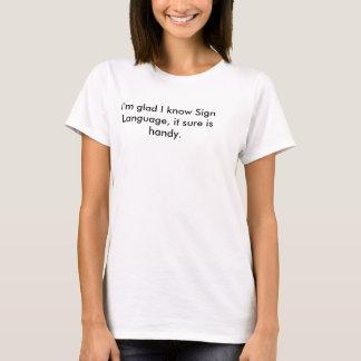 Zeichen-Sprachwortspiel-T - Shirt